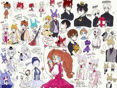 Fnaf 5, Anime Fnaf, Fnaf Jumpscares, Fnaf Story, Alice In Wonderland Artwork, Fnaf Sister Location, Five Nights At Freddy's, Horror, Fan Art