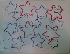 Patriotic Cookie Cutter Stars - 4th of July Craft Idea