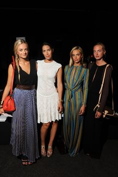 Virginie, Prisca, Jenna and Claire Courtin-Clarins Front Row at Prabal Gurung
