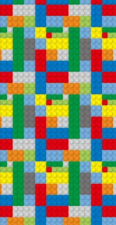 Removable Wallpaper, Peel and stick wallpaper, lego wallpaper, bright wallpaper, nursery wallpaper, nursery decor, Self adhesive