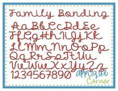 Family bonding font