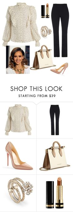 """""""Untitled #672"""" by ivanazb ❤ liked on Polyvore featuring Rebecca Taylor, Gucci, Christian Louboutin and Strathberry"""