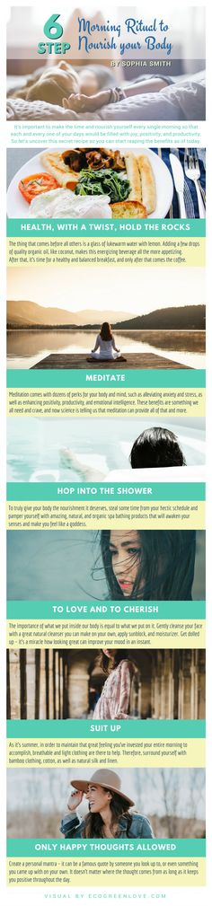 Morning Ritual to Nourish your Body [Infographic]   ecogreenlove