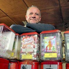 Reportage über  Kaugummiautomaten-Aufsteller
