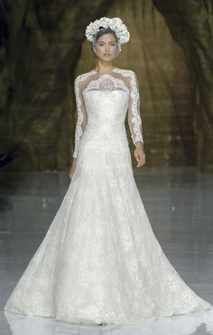 Pronovias Fashion Show 2014 Bridal Collections   First Love. (designer available at local bridal salons)
