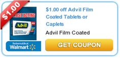 Print the new $1/1 Advil Film Coated Caplets or Tablets coupon! - http://printgreatcoupons.com/2013/10/19/print-the-new-11-advil-film-coated-caplets-or-tablets-coupon/