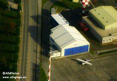 Vista del hangar de mantenimiento de Aeroflota del Noroeste-#AFN, a vista de pájaro. Buenos #vuelos!!!