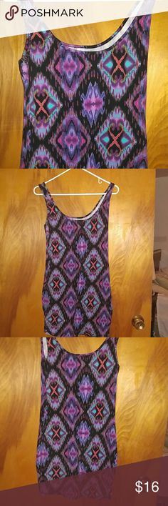 No Boundaries Sleevless Dress I wore this once. I love the colors and patter. It could be worn as a dress or long shirt with some leggings and boots. No Boundaries Dresses Mini