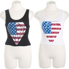 American Flag in Diamond Graphic  $14.00 Free Domestic Shipping