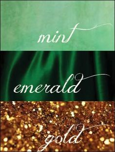 mint emerald and gold scheme - Google Search