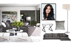 Courteney Cox's living room