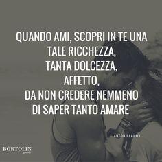 #Bortolingioielli #SanValentino2016 #citazioni #AntonCechov http://www.bortolingioielli.it/ | Bortolin Gioielli
