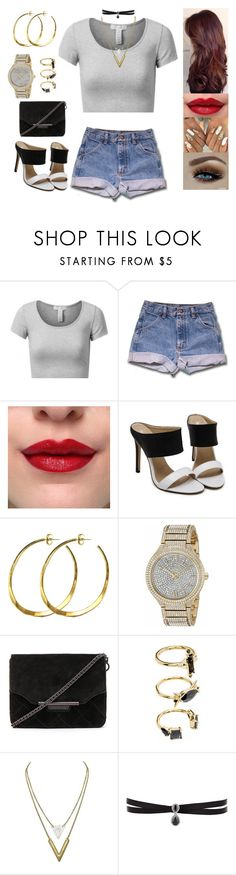 """""""Untitled #5404"""" by sigalv ❤ liked on Polyvore featuring J.TOMSON, Rebecca Norman, Michael Kors, rag & bone, Noir Jewelry and Fallon"""