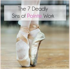 Pointe work can be exciting and but pointe mistakes can be injurious. As I have mentioned before it is the right of passage for many ballet students Dancer Stretches, Ballet Feet, Dancers Feet, Ballet Dancers, Ballet Images, Belly Dancing Classes, Dance Training, Ballet Class, Ballet Basics