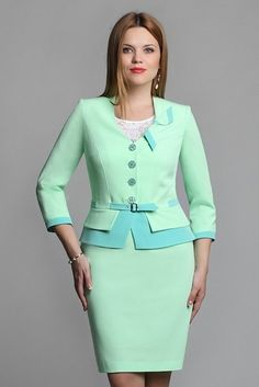 The suit (jacket, skirt, blouse) - order and purchase delivery in «L'MARKA» online store