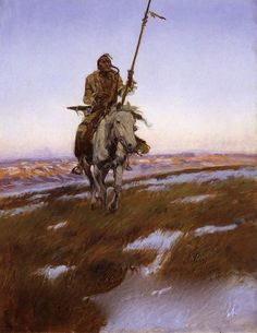Charles M. Russell (1864-1926)-A Cree Indian