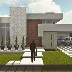 """Vertical e horizontal, o lindo encontro de linhas retas, numa composição charmosa e contemporânea.  Projeto @studiotettris """"Edifique seus sonhos!"""" #newproject #architecture #design #project #arch #home #house #studio #work #office #arquitetura #projeto #casa #sonhos"""
