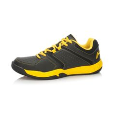 Li-Ning Mens Badminton Training Shoes - Black/Bright Yellow   2015 Winter Release - Mens Badminton Shoes - Li-Ning Badminton Shoes - Li-Ning Badminton   Free Shipping