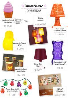 Blog da Pipa Comunicação: Luminárias divertidas #lamps #decor #ideas