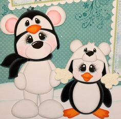 ELITE4U PMBY JULIE winter child premade scrapbook pages for album paper piecing