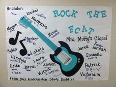 Rock the FCAT.we made this for our Study Buddies Kindergarten, Study, Classroom, Teaching, Rock, Education, Ideas, Studio, Stone