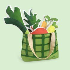 POTRAVINY / dětská nákupní taška