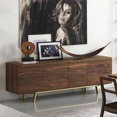 Buffet and cabinets ideas |  Modern Living Arco Sideboard | www.bocadolobo.com #interiordesign #decor #buffet