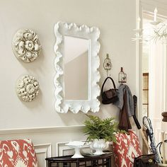 Ballard Designs Atoll Rectangular Mirror with Clear Glass Item: WM795 | http://www.ballarddesigns.com/atoll-rectangular-mirror-with-clear-glass/198109