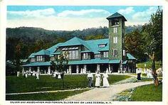 Lake George New York NY 1909 Silver Bay Association Auditorium Vintage Postcard Lake George New York NY 1909 Silver Bay Association Auditorium. Unused Curteich collectible antique vintage postcard in