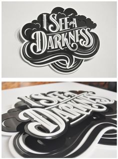 """I See A Darkness"" - bryan todd #typography"