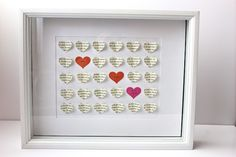 Smashed Peas and Carrots: 3-D Heart Shadow Box Wedding Gift-TUTORIAL