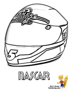 nascar coloring kasey kahne helmet at yescoloring