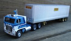 """""""Blue Mule"""" Ford WT-9000 Truck Tractor & 40' Trailer"""