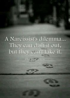 They dish it out Narcissistic Abuse Recovery