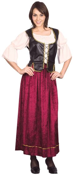656edbdbf79 Details about Ladies Wench Bar Girl Fancy Dress Costume Saloon Pub Womens  Outfit UK 10-14. Déguisement Médiéval FemmeArticles ...