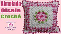 flor bl. lila morado para cojin  Passo a Passo Almofada Flor Gisele - Professora Simone