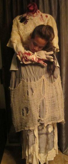 homemade Halloween costume - headless woman and headless man. this has got me thinkin' ideas!!!