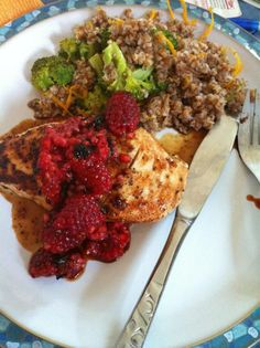 Spicy Raspberry-Balsamic Chicken Breasts from our Aug/Sept 2012 issue! Well done, @pleiades42!