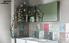 crédence cuisine carreaux ciment motifs pastel Irisceramica