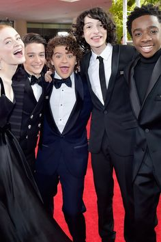 The Cast of Stranger Things Wears Their Hawkins Best to the Golden Globes