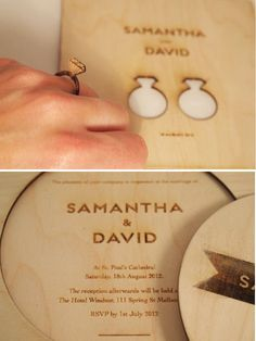 Wednesday Wedding Want: Incredible Laser Cut Stationery - samantha Cascade Laser Awards and Engraving.