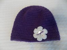 Items similar to Purple hat with flower-Baby Girl Hat-Crochet Hat with Flower-Girl Shower Gift-Birthday-Photo Prop Toddler Child any size on Etsy Baby Girl Hats, Girl With Hat, Hat Crochet, Photo Props, Birthday Gifts, Etsy Seller, Girl Shower, Purple, Creative