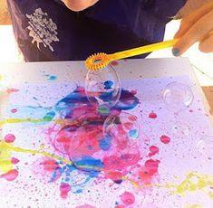 Actividades para Educación Infantil: TÉCNICAS PLÁSTICAS: pintamos con burbujas Art For Kids, Crafts For Kids, Arts And Crafts, Diy Crafts, Art Projects, Projects To Try, The Little Prince, Summer Activities, Art Therapy