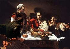 Supper at Emmaus by Caravaggio.  Art Experience NYC  www.artexperiencenyc.com/social_login/?utm_source=pinterest_medium=pins_content=pinterest_pins_campaign=pinterest_initial