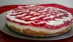 Frusen cheesecake med hallon