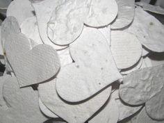Eco-Friendly Wedding Favor - White Heart Shaped Plantable Confetti Pieces by Davita, $17.75 www.davita.etsy.com