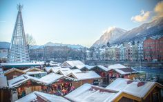 Marktplatz Christmas Market - Innsbruck, Austria ... Christmas in the Mountains