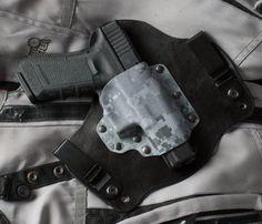 Ice Camo Digital Kydex Hybrid Gun Holster Glock 17 19 22 23 31 32 34 IWB CCW on Etsy, $42.00