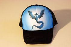 Pokemon go team mystic inspired personalized Airbrush Trucker Hat…