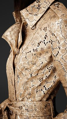 Laser-Cut Leather Trench Coat | Burberry
